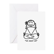 """om sweet om"" Greeting Cards (Pk of 10)"