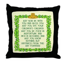 Scott Designs Irish Blessing Throw Pillow