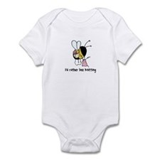 i'd rather bee knitting Infant Bodysuit