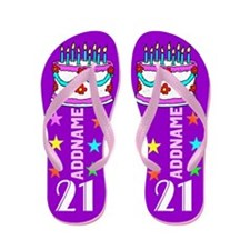 21st Birthday Cake Flip Flops