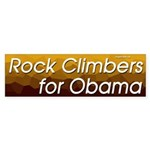 Rock Climbers for Obama bumper sticker