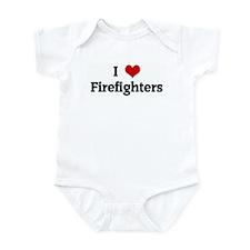 I Love Firefighters Infant Bodysuit