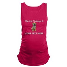 Personalized Puggle Maternity Tank Top
