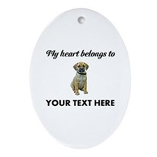 Personalized Puggle Ornament (Oval)