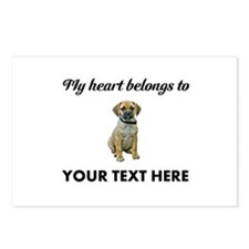 Personalized Puggle Postcards (Package of 8)