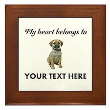 Personalized Puggle Framed Tile