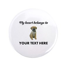 Personalized Puggle Button