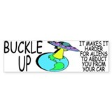 Buckle Up Bumper Car Sticker