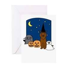 Irish Setter Howling Halloween Greeting Card