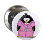 Nurse Penguin Button