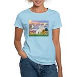 Cloud Angel & Devonshire Rex Women's Light T-Shir