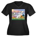 Cloud Angel & Devonshire Rex Women's Plus Size V-