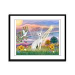 Cloud Angel & Devonshire Rex Framed Panel Print