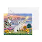 Cloud Angel & Devonshire Rex Greeting Card