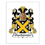 Charbonnier Family Crest Small Poster