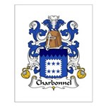 Charbonnel Family Crest  Small Poster