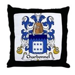 Charbonnel Family Crest  Throw Pillow