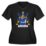 Charbonneau Family Crest Women's Plus Size V-Neck