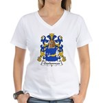 Charbonneau Family Crest Women's V-Neck T-Shirt