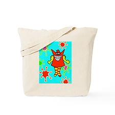 Swirly Girly Monster goes shopping Tote Bag