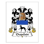 Chapelain Family Crest Small Poster