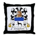 Chapelain Family Crest Throw Pillow