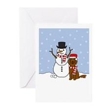 Setter Howling Holiday Greeting Cards (Pk of 10)