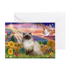 Autumn Angel Himalayan Greeting Card