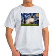 Starry Night Himalayan cat T-Shirt