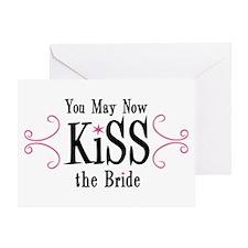 Kiss The Bride Greeting Card
