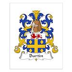 Burtin Family Crest Small Poster