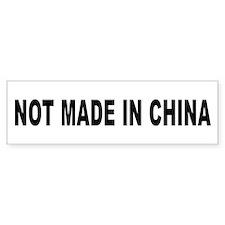 Not Made in China Bumper Car Sticker