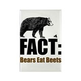 Fact: Bears eat beets Rectangle Magnet (10 pack)