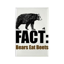 Fact: Bears eat beets Rectangle Magnet