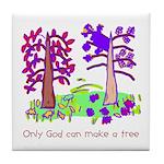 Kid Art Trees Tile Coaster