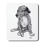 Merle Great Dane Puppy in dots Mousepad