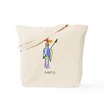 Kid Art Hero Knight Tote Bag