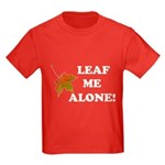 LEAF ME ALONE Kids Dark T-Shirt