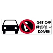 Hang Up and Drive Bumper Bumper Sticker