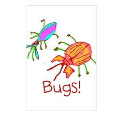 Kid Art Bugs Postcards (Package of 8)