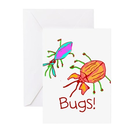 Kid Art Bugs Greeting Cards (Pk of 10)