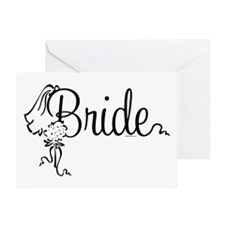 Bride Bouquet Greeting Card