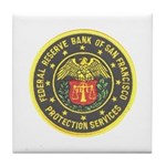 SF Federal Reserve Bank Tile Coaster