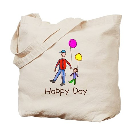 Kid Art Happy Day Tote Bag