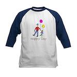Kid Art Happy Day Kids Baseball Jersey