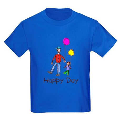 Kid Art Happy Day Kids Dark T-Shirt