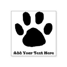 Paw Print Template Sticker