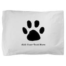 Paw Print Template Pillow Sham