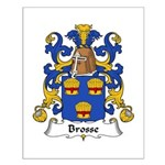 Brosse Family Crest Small Poster