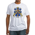 Brosse Family Crest Fitted T-Shirt
